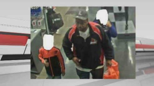 Police say a man took kids shoplifting with him.