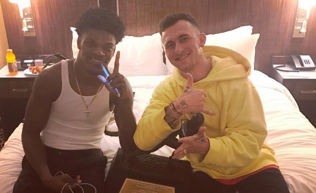 Johnny Manziel posted this picture with Lamar Jackson on Manziel's Instagram account.