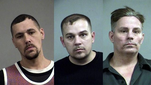 Anthony Keen, Benjamin Broyles and William Anthony Broyles (Source: Louisville Metro Corrections)