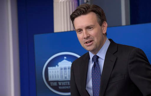 AP Photo/Susan Walsh). White House press secretary Josh Earnest speaks during the daily briefing at the White House in Washington, Thursday, Dec. 15, 2016. Earnest answered questions about Russian hacking, healthcare and other topics.