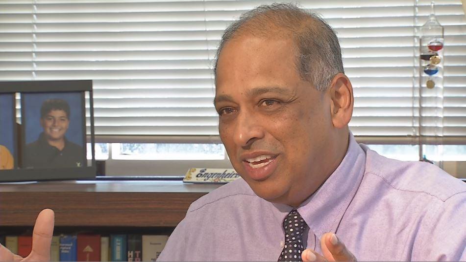 Acting University of Louisville President Neville Pinto