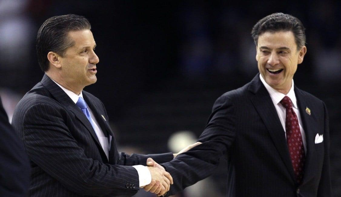 John Calipari (left) has won eight of his last nine games against Rick Pitino. (Associated Press photo.)