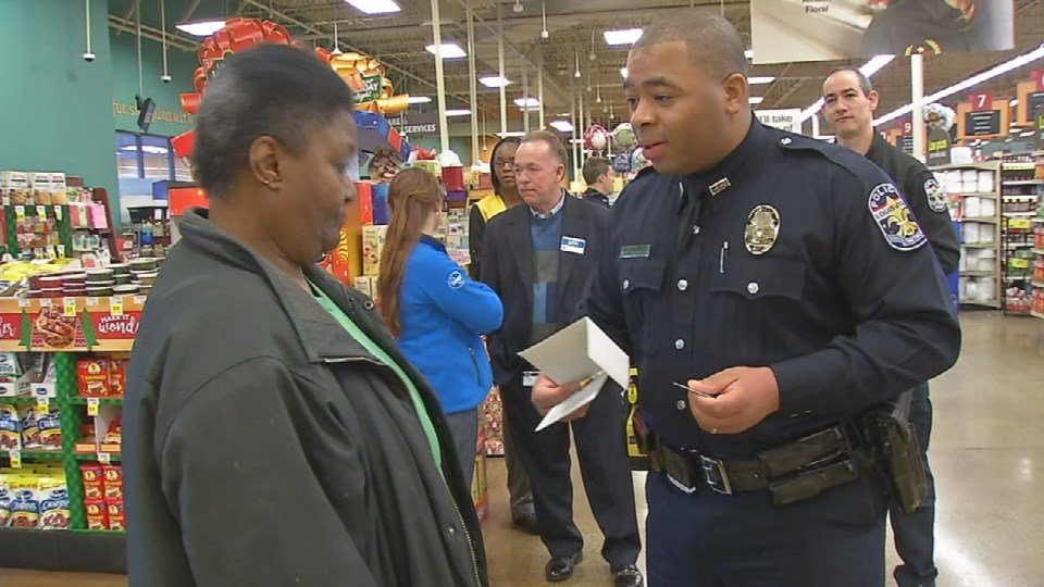 This is the first year that Kroger and LMPD have teamed up to hand out gift cards.