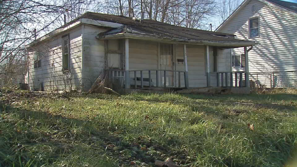 Abandoned home set to be demolished in Austin, Indiana.