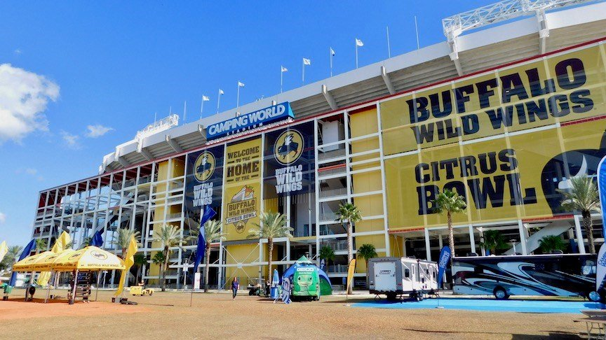 Camping World Stadium in Orlando, site of the Buffalo Wild Wings Citrus Bowl (WDRB photo by Eric Crawford)