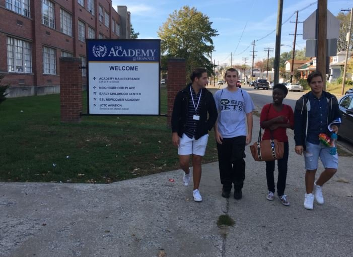 These four juniors chose the Academy @ Shawnee to pursue their dreams of becoming pilots and engineers, but say daily fights and disruptions have left them scared and unable to learn. (Photo by Toni Konz, WDRB News)
