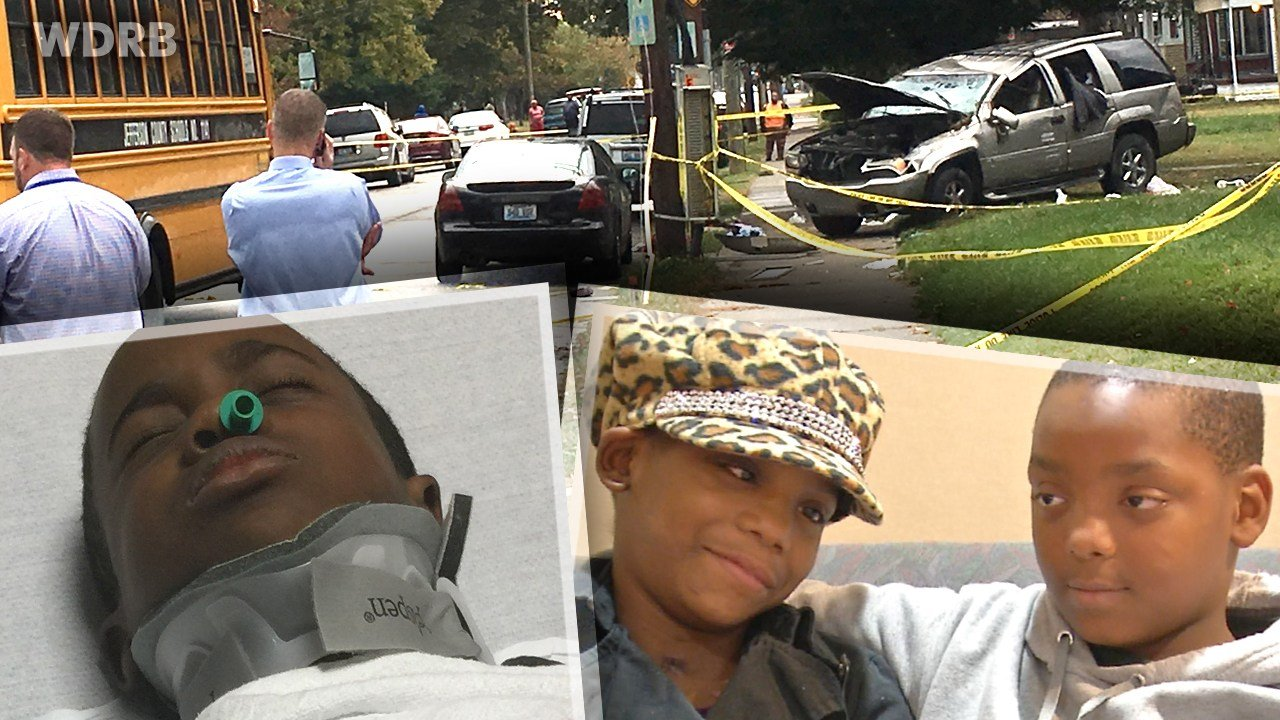 Nine-year-old Vanessa Levros, her brother Jaconiah Fields, 10, and Phillip Neal III, 8, were all seriously injured in the Oct. 20 crash while they waited at their JCPS bus stop