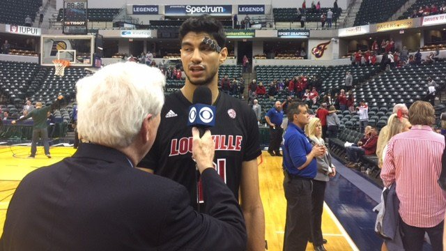 CBS selected Anas Mahmoud as its Star of the Game after Louisville defeated Indiana.