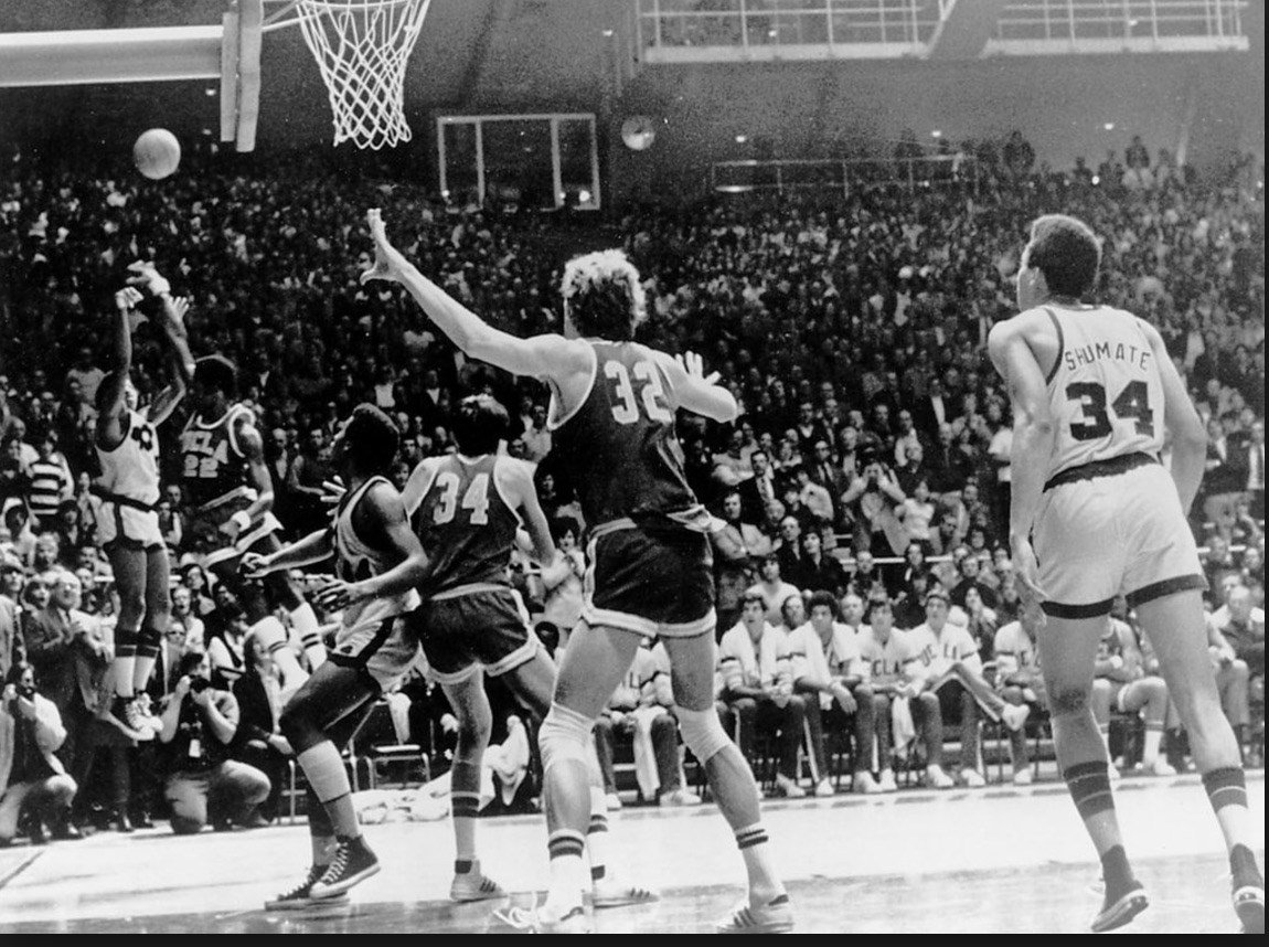 Dwight Clay's game-winner against UCLA in 1974 remains the greatest homecourt win in Notre Dame history. (New York Times photo.)