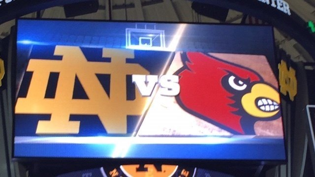 Louisville played its second ACC game at Notre Dame Wednesday night.