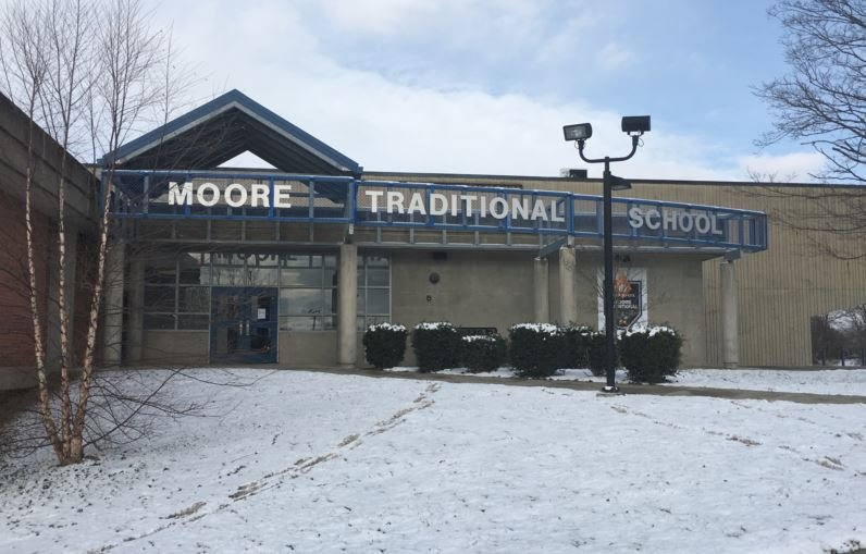 "Moore Traditional School is seeking to drop ""traditional"" from its name. (Photo by Toni Konz, WDRB News)"