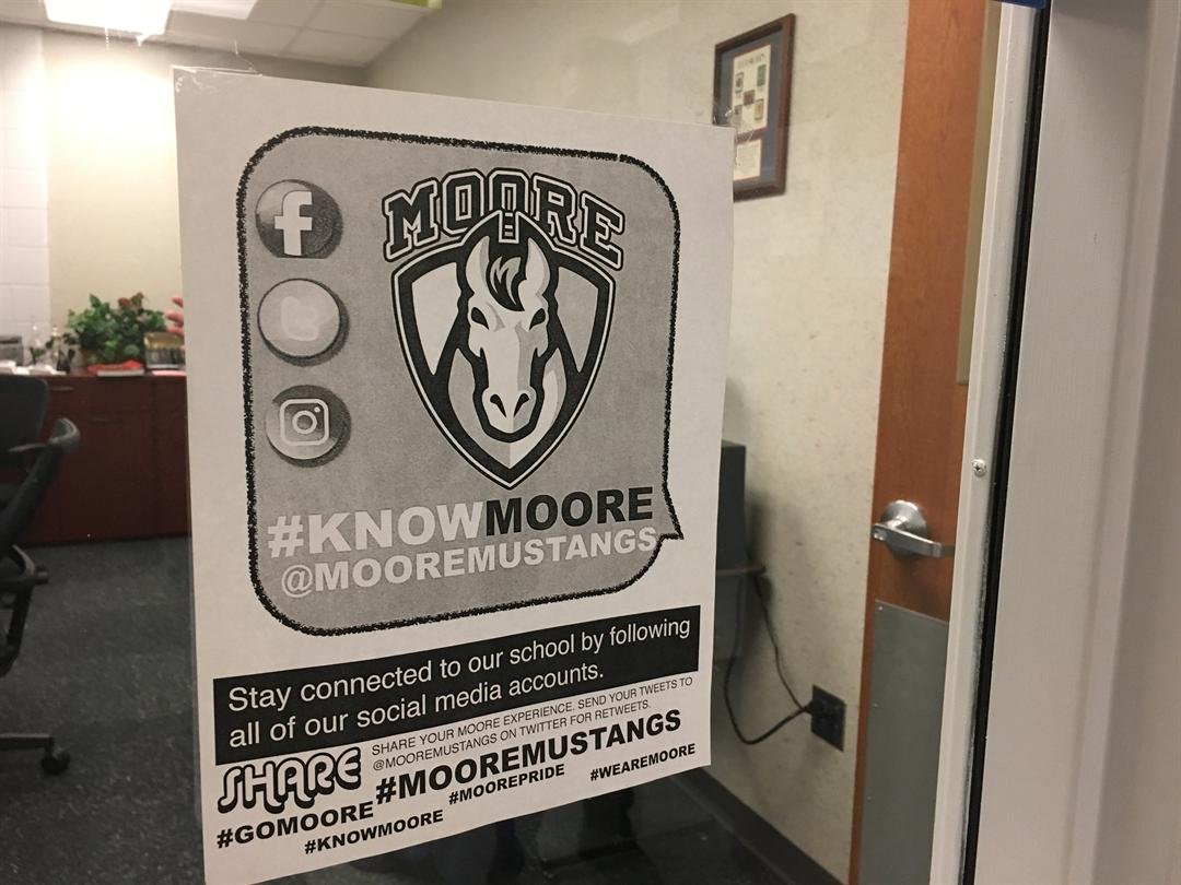 Fulk launched the #KnowMoore campaign on social media to promote the programs and student achievements at the school (Photo by Toni Konz, WDRB News)
