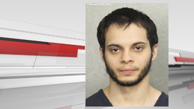 (Broward Sheriff's Office via AP). FILE- This file booking photo provided by the Broward Sheriff's Office shows suspect Esteban Santiago in Fort Lauderdale, Fla.