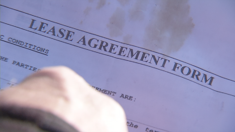 A fake lease agreement drafted to scam a victim attempting to rent a Shively home.