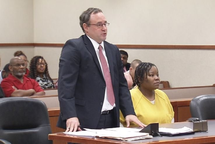 Former JCPS teachers Rachel Bouya Ahmed Limam was in court today asking for shock probation. (WDRB News photo)