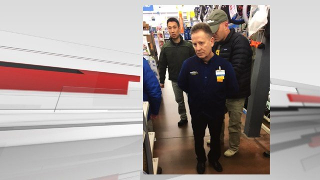 Federal agents arrested Charles Hollin at a Walmart in Salem, Oregon on Tuesday, Jan. 10, 2017.