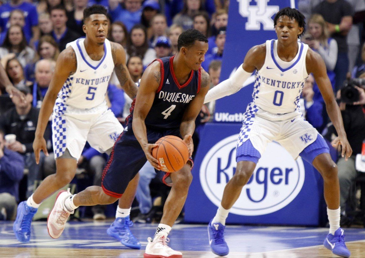 Kentucky's Malik Monk (left) and De'Aaron Fox are the leading contenders for SEC Player of the Year.
