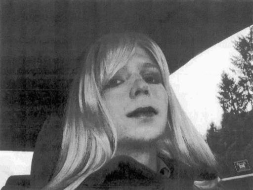 (U.S. Army via AP, File). FILE - In this undated file photo provided by the U.S. Army, Pfc. Chelsea Manning poses for a photo wearing a wig and lipstick.