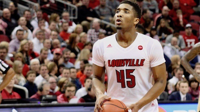With Quentin Snider sidelines, Donovan Mitchell took charge as Louisville defeated Clemson Thursday night. (Eric Crawford photo.)