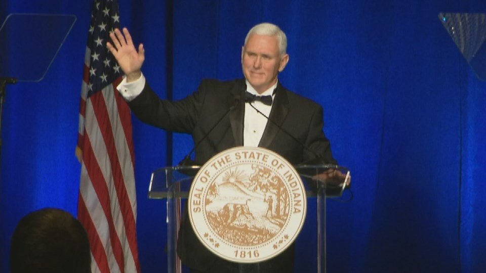Vice President Mike Pence isn't forgetting his home state as he begins his new role.