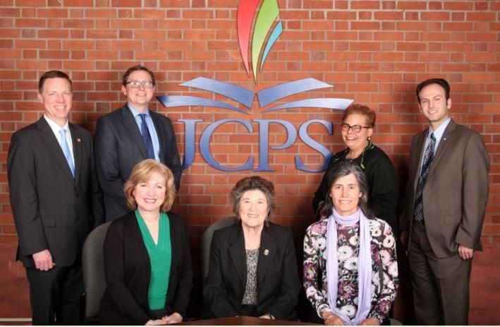 The JCPS school board (Photo courtesy JCPS)