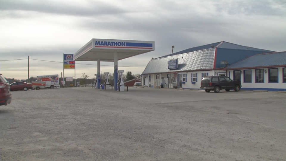 Credit card skimmers were found on two pumps at this gas station on Hwy 55 in Spencer Co.
