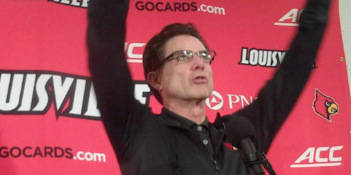 Rick Pitino's Louisville team is rising in the rankings and projected NCAA Tournament brackets.