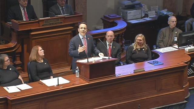 """Gov. Matt Bevin gives his """"State of the Commonwealth"""" speech on Wednesday, Feb. 9, 2017. (WDRB file photo)"""