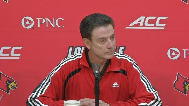 Louisville head basketball coach Rick Pitino
