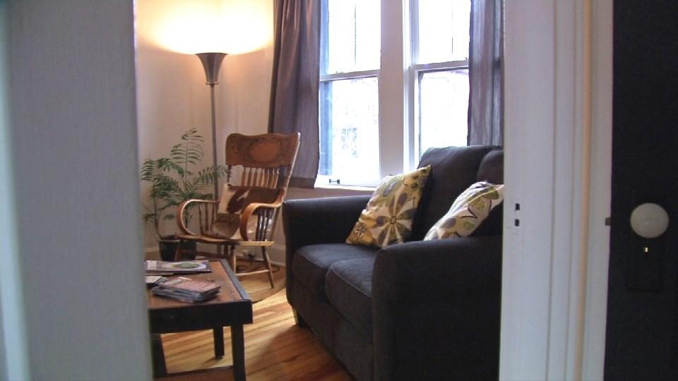 Inside Jonathan Bevan's Airbnb apartment