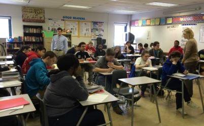 A Fairdale High School classroom (WDRB file photo from 2016)