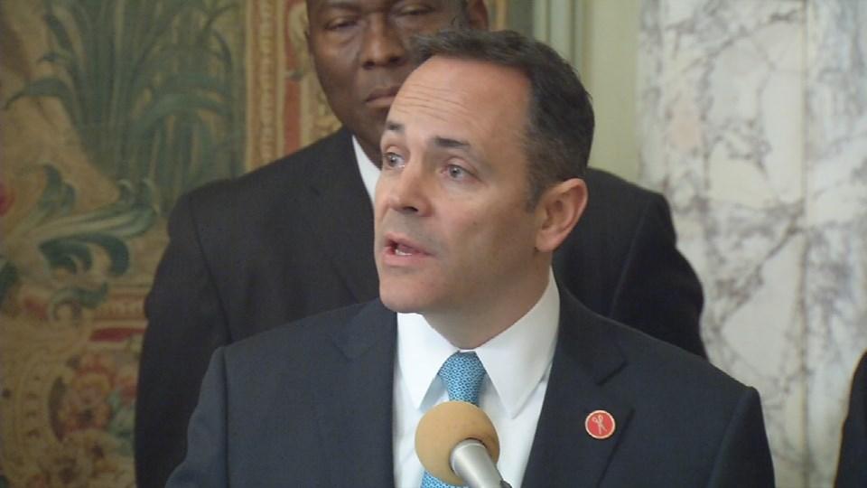 Gov. Matt Bevin at a Feb. 14, 2017 press conference