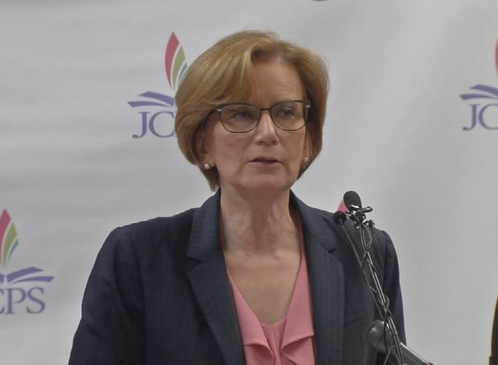JCPS Superintendent Donna Hargens on Feb. 14, 2017 (WDRB News)
