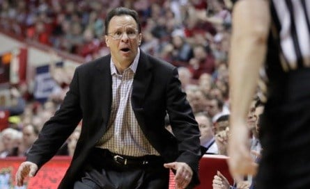 Tom Crean's Indiana basketball team has lost eight of 13 Big Ten games. (Associated Press photo.)