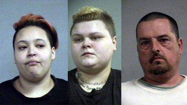 Asia Jewell, Amber Jewell, Evert Baker (Source: Louisville Metro Corrections)