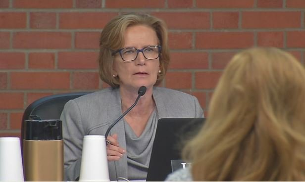 JCPS Superintendent Donna Hargens at a school board meeting in June 2016. (WDRB News file photo)