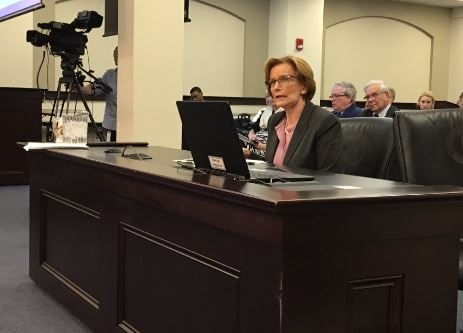 Superintendent Donna Hargens testified against House Bill 151 on Thursday. (WDRB News photo)