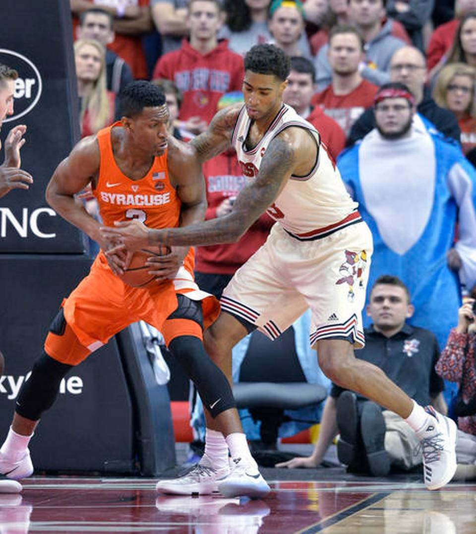 Ray Spalding had his best game of the season in Louisville's win over Syracuse (AP photo)