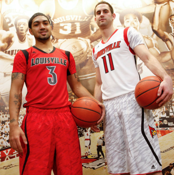 Uniforms Louisville wore during their 2013 NCAA title run.