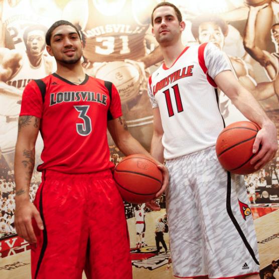 Uniforms Louisville wore during their 2013 NCAA title run.