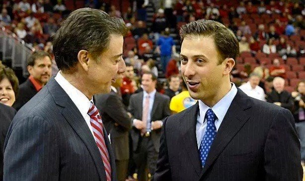 Rich and Richard Pitino are both in the race for college basketball coach of the year. (AP photo)