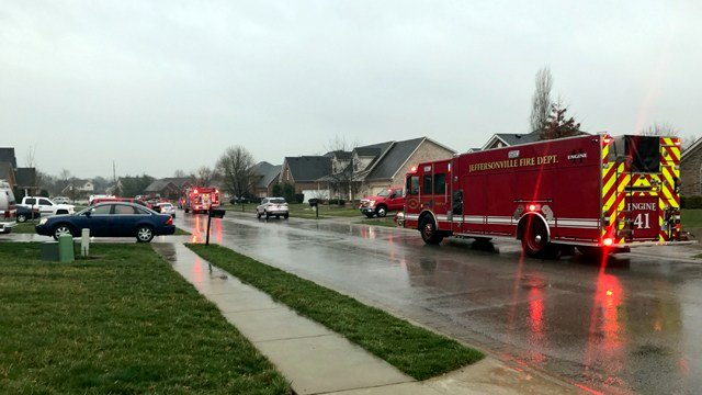 Jeffersonville firefighters investigating after lightning strikes home on Kerry Ann Way.