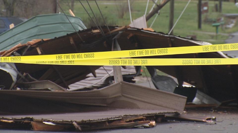 Storm damage in Austin.