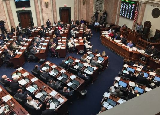The Kentucky House of Representatives debated House Bill 520 on charter schools for more than two hours on Friday. (Photo by Lawrence Smith, WDRB News)