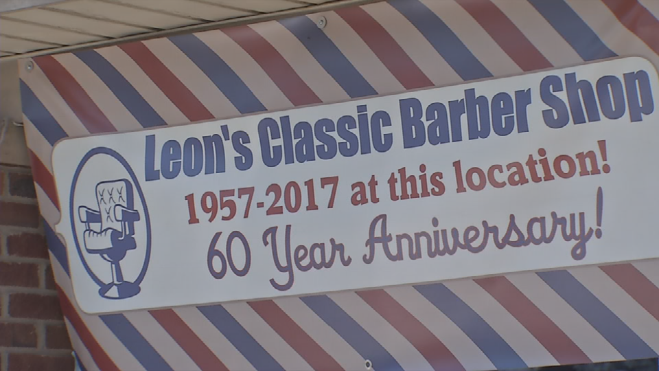 Leon Wingfield opened his barber shop in 1957.