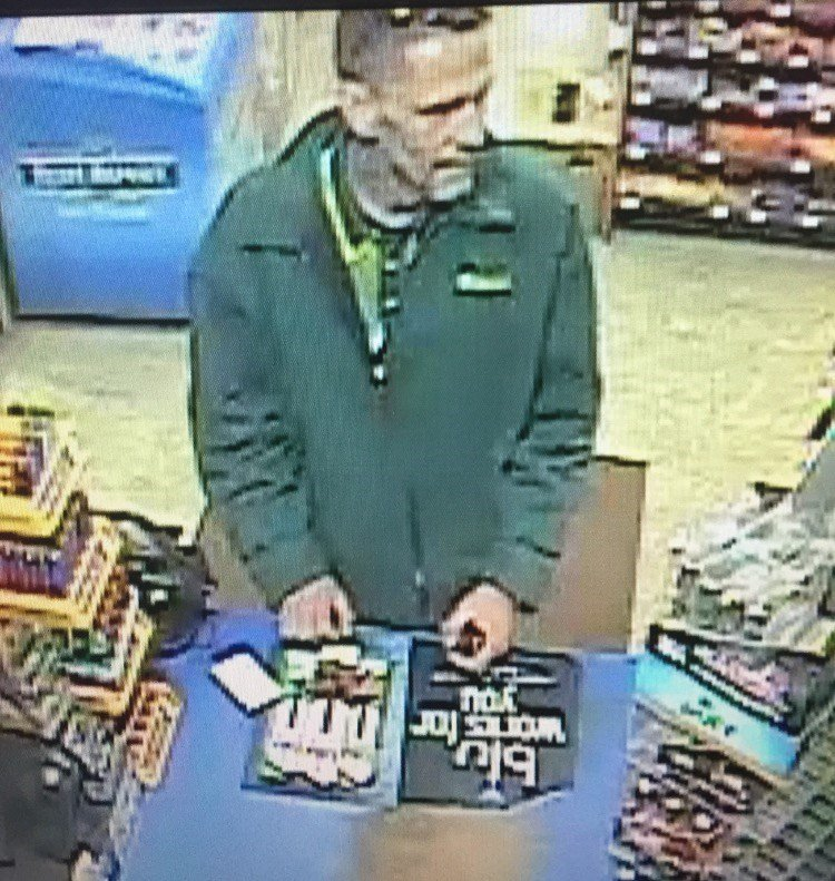 Police say this image shows the man who robbed Plaza 94 gas station/food mart in Elizabethtown, Ky., Thursday night.