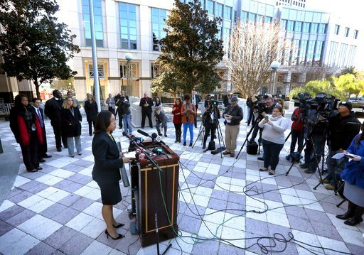 (Joe Burbank/Orlando Sentinel via AP). In a press conference on the steps of the Orange County Courthouse Thursday, March 16, 2017, Orange-Osceola State Attorney Aramis Ayala announces that her office will no longer pursue the death penalty as a sentence.