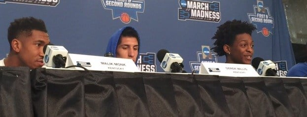 Kentucky must defeat Wichita State Sunday to advance to the Sweet Sixteen of the NCAA Tournament.