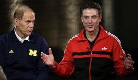 John Beilein (left) and Rick Pitino have had three epic games in their careers.