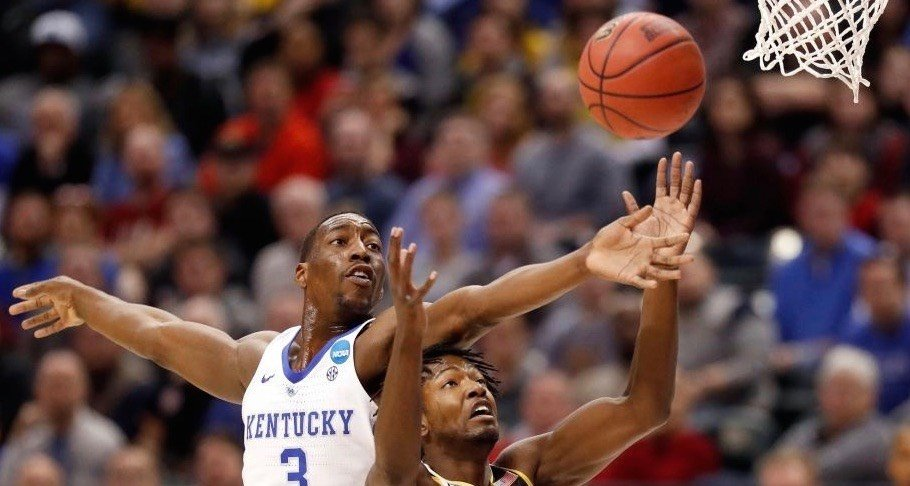 Bam Adebayo led Kentucky with 13 points, 10 rebounds and one huge block against Wichita State.
